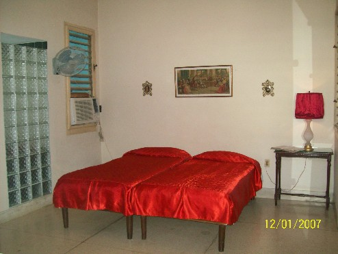 'Bedroom' is what you can see in this casa particular picture. Casas particulares are an alternative to hotels in Cuba. Check our website cuba-particular.com often for new casas.