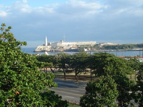 'View from the terrace (Morro Castle and Harbour)r)' is what you can see in this casa particular picture. Casas particulares are an alternative to hotels in Cuba. Check our website cuba-particular.com often for new casas.