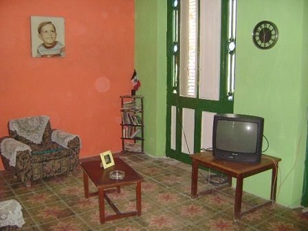 'Living room' Casas particulares are an alternative to hotels in Cuba. Check our website cubaparticular.com often for new casas.