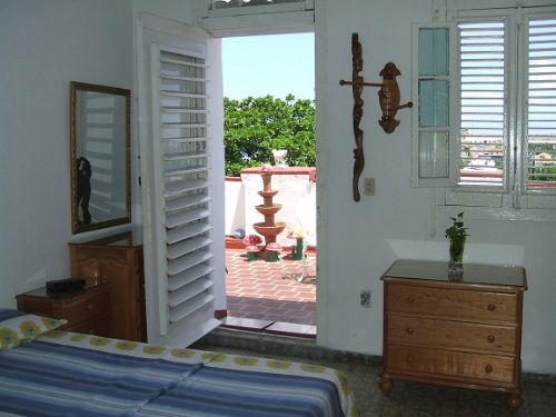'Bedroom1' is what you can see in this casa particular picture. Casas particulares are an alternative to hotels in Cuba. Check our website cuba-particular.com often for new casas.