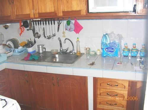 'Kitchen' is what you can see in this casa particular picture. Casas particulares are an alternative to hotels in Cuba. Check our website cuba-particular.com often for new casas.