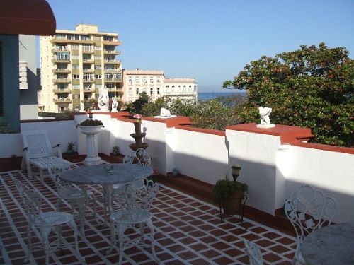 'Terrace' is what you can see in this casa particular picture. Casas particulares are an alternative to hotels in Cuba. Check our website cuba-particular.com often for new casas.